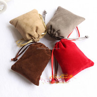 Velvet necklace and pendants jewelry drawstring bags luxury gift pouch