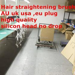 Professional Brush Hair Straightener Comb LCD Display Electric Straightening Irons Straight Hair Brush Straightener