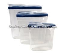 Cheap 3 pieces set pet plastic food storage container,dog food storage container