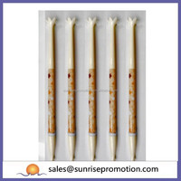 Slim plastic hot selling flower cap pen