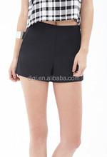 Ladies modern minimalist crisp solid waist shorts contracted pure color waist simple shorts fashion pants