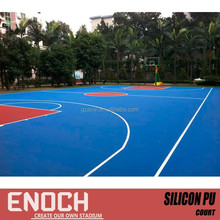 Flooring sports court/ basketball / tennis floor PU outdoor paint