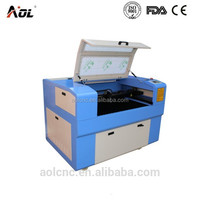 AOL 6090 table top laser cutting and engraving laser price,laser engraving machine for small business