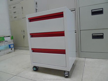 Metal furniture file cabinet / metal file cabinet dividers/ dental clinic cabinet with 3 drawers