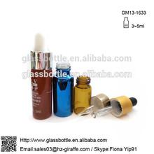 Personalizado con cuentagotas de vidrio botella de aceite esencial de botella de vidrio dm13-1633