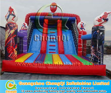 new arrival inflatable spiderman bounce slide
