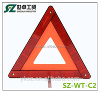 shizhuo new red emergency reflective triangle with certification