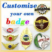Multifunctional custom metal pilot wings pin badge for wholesales
