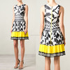 Western stylish sexy sleeveless short women dress colorful printing pleated skirt for girl and ladies wholesale