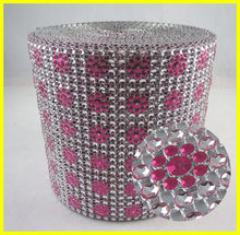 Wholesale Sun Flower Shape Silver Electronic Plated Wrap, Plastic Mesh on Roll