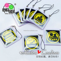 Stimulating Spoof Logo Pendant Package Sex Products Sex Delay Latex Condom for Male Adult Sex Toys HS-SCO74