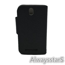 Premium PU leather Wallet Case with Card Slots ID Holders Cash Compartment Case for HTC T528t One ST