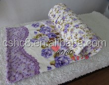 New Style Rotary screen flower printing check blanket/throw/High Quality For adults