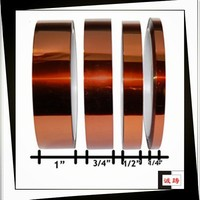 Hottest !!! Silicone Adhesive High Temperature Polyimide Tapes For Powder Coating With ISO, SGS Certifications