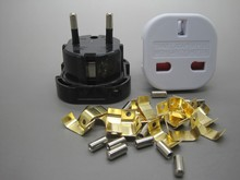 uk eu travel adaptor with ce rohs fcc with case 3000mA