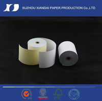 low price 2ply high quality carbonless NCR Paper Roll width 57mm contact paper blue