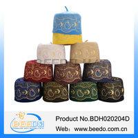 Embroidery omani hat arab women muslim hat red islamic hijab hat