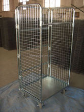 3 sided steel wire mesh roller cage
