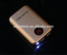 High quality emergency slim design dual voltage output power bank