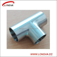 stainless steel sanitary pipe fitting butt welded tee price