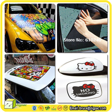 On transparent pvc panoramic roof sunroof sunshade decal hello kitty picture mirror fuel tank car body bonnet painting sticker