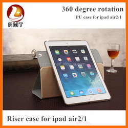 Wholesale PU Case for iPad Air 2, for iPad Air 2 Smart Wake Sleep PU Leather Case Wallet Cover