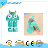 Maddie Monster-Turquoise Children's Hooded Towels