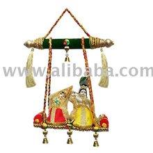 Radha Krishna On Swing,Religious Crafts