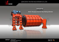 roller suspension cement pipe moulding machine for export