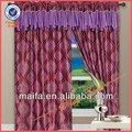 estilo de la moda jacquard tela de la cortina blackout diseño cambered con cenefas