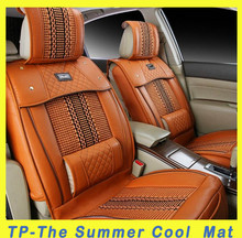 The Summer Ice silk + Leather Car Seat Cover, Leather Car Seat Covers Design