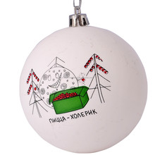 Xmas Promotion Gift Custom Logo Plastic Christmas Ball
