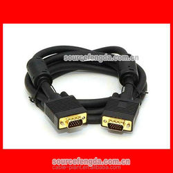 hot sale Gold plated two ferrite cores VGA cable 30m monitor data cable