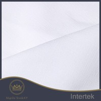 One way stretch poly slub microfiber polyester spandex fabric