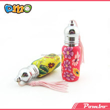 wholesale beautiful polymer clay roller ball bottle