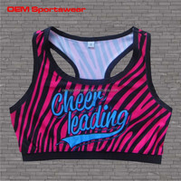 Cheer wear custom sublimated kids training sports bra