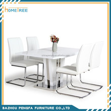 Hot Sale Hign Quality White High Gloss Dinning Table