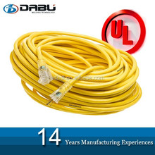 Extension cords 50m with strong 14gauge SJOW Rubber Flexible Power Cable