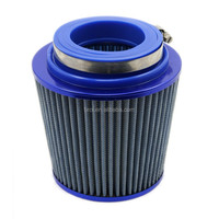 "TIROL Round Tapered Universal Auto Cold Air Intake/ Air Filter(Blue)3""-3.5""-4"""