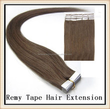 100% hight quality virgin remy human hair hand tied skin weft tape extensions