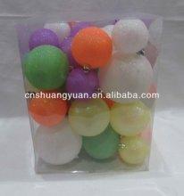 popular colorful plastic christmas ornaments , christmas ball