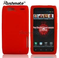 For Motorola Droid Razr Maxx XT913 XT916 Red Rubber Silicon Case Factory
