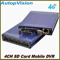 2015 NEW 4Ch 4G GPS SD Card Mobile DVR Bus Truck car dvr recorder with 4pcs camera