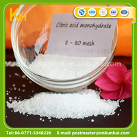 Top quality monohydrate citric acid ingredients food grade