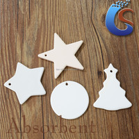 lrregular shape white ceramic christmas ornaments