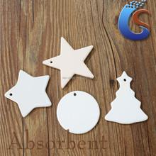 lrregular shape white ceramic christmas ornaments