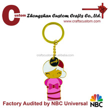2014 Promotional Gifts Cheap Custom Lovely Cartoon Metal KeyChain