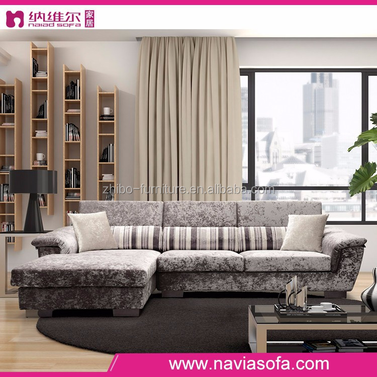 lastest design modern european style living room fabric home furniture