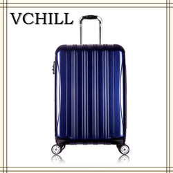 high end good quality ABS PC four wheel trolley luggage
