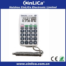 handheld mini pocket calculators for promotional gift with necklace